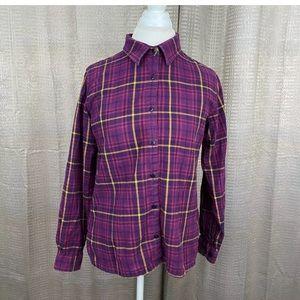 Cabela's Women Flannel Button Front Shirt Medium